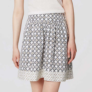 Loft - Casual and Cute patterned skirt
